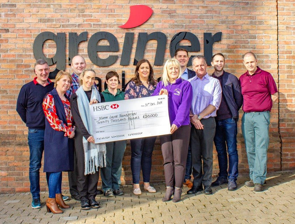 Greiner Packaging - Charity of the Year 2018 Niamh Louise Foundation